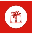hand drawn Christmas icon red line isolated in vector image vector image