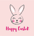 happy easter banner with bunny vector image