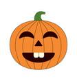 happy halloween cartoon pumpkin vector image vector image