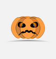 happy halloween pumpkin isolated on white vector image