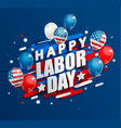 happy labor day holiday banner vector image vector image