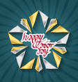 happy labor day poster with gold star vector image