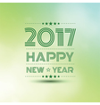 Happy new year 2017 2 vector image