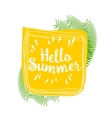 Hello summer lively hand drawn picture vector image vector image