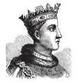 henry vi of england vintage vector image vector image