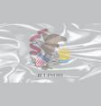 ilinois state silk flag vector image vector image