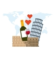 italian culture holidays icon vector image
