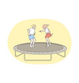 jumping children holiday childhood concept vector image