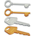 Key Brass Steel vector image