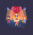 kids playing different musical instruments and vector image vector image