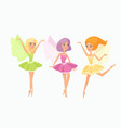 magic fairies flat set cute vector image vector image