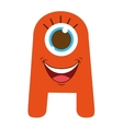 monster cartoon isolated icon design vector image vector image