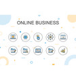 online businesstrendy infographic template thin vector image vector image