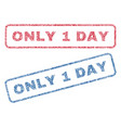 only 1 day textile stamps vector image vector image