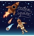 Outer space background vector image vector image