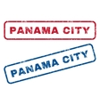 Panama City Rubber Stamps vector image vector image