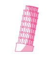 pisa tower building vector image vector image