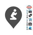 prayer map marker icon with free bonus vector image vector image