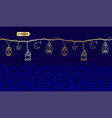 ramadan card with fanous lamp lantern in classic vector image