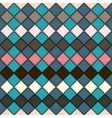 rhombus seamless grunge background in retro colors vector image vector image