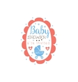 Round Frame Baby Shower Invitation Design Template vector image vector image