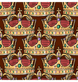 seamless background with crown vector image vector image