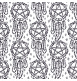 seamless pattern with dreamcatcherfor spiritual vector image vector image