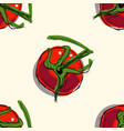 seamless pattern with red ripe tomatoes vector image