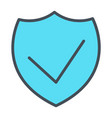 security shield pixel perfect thin line icon 48x48 vector image vector image