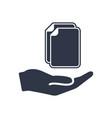 service offer - data transfer - minimal icon vector image