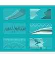 set graphs and charts data statistic vector image