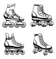 set of roller skates design element for logo vector image