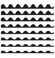 set of wavy horizontal lines design element vector image vector image