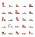 shoes set icons vector image vector image