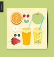 simple things - fruit vector image vector image
