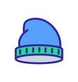 sock beanie icon outline