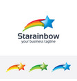 star rainbow logo design vector image
