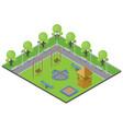suburbia park concept vector image