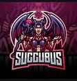 succubus esport mascot logo design vector image vector image