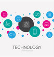 technology trendy circle template with simple vector image vector image
