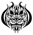 the stylized image of a tiger head vector image vector image