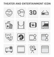 theater entertainment icon vector image vector image