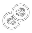 tomato slices icon vector image vector image