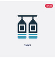 two color tanks icon from industry concept vector image vector image