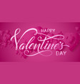 valentines day card elegant red hearts with soft vector image vector image