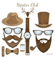 Vintage hipster club accessories vector image vector image