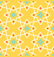 yellow arabic ornamental ceramic tile vector image vector image