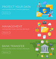 Flat design concept for internet security vector image