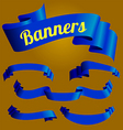 blue banners vector image