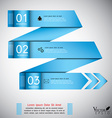 Modern arrow origami style step up options banner vector image